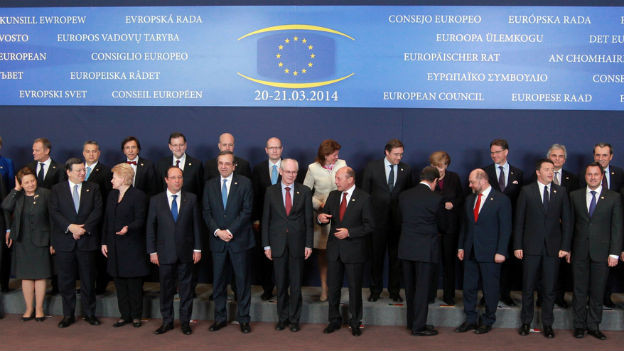 EU-Spitzenpolitiker an ihrem Gipfel in Brüssel.
