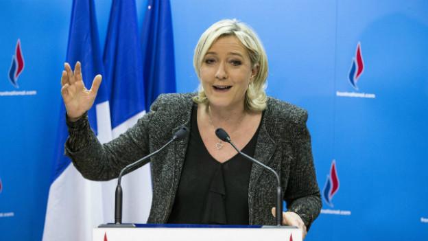 Marine Le Pen, Präsidentin des Front National.