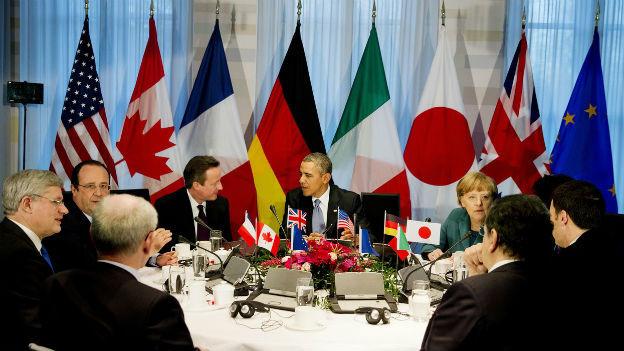 Die Mächtigen der Welt in Den Haag - ohne Russland.