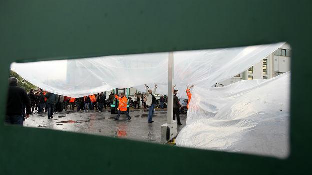 24-Stunden Streik der Staatsangestellten in Griechenland