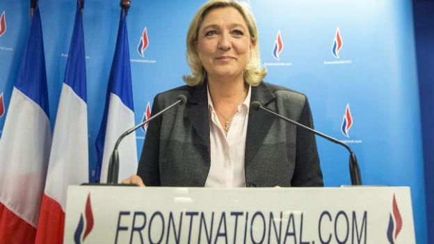Marine Le Pen nach den Wahlerfolgen ihres Front National vom Wochenende.