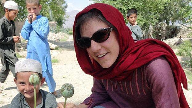 Karin Wenger auf ihrer Afghanistan-Reise.