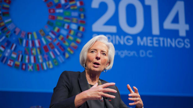 IWF-Chefin Christine Lagarde in Washington.