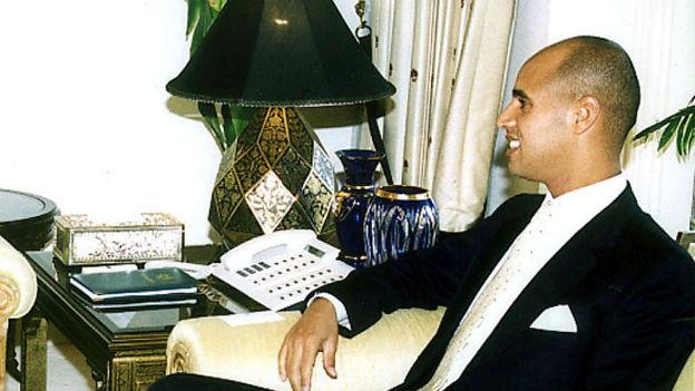 Saif al Islam, einer der Söhne von Muammar Ghadhafi im Jahr 2001.