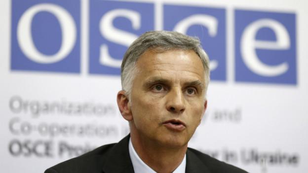 Bundesrat Didier Burkhalter war gestern zu Besuch in Kiew in seiner Funktion als Vorsitzender der OSZE.