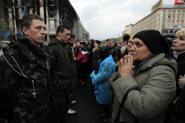 Die Übergangsregierung in der Ukraine ist ratlos.