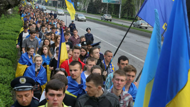 Pro-ukrainische Kundgebung am 24. April 2014