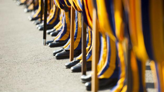 110 Mann stark ist das Heer der Schweizer Gardisten.