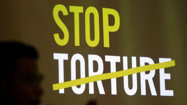 «Stop Torture» - Logo der neuen Kampagne von Amnesty International