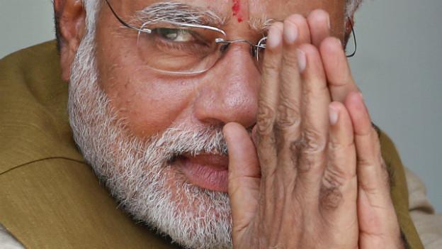 Narendra Modis ist der Spitzenkandidat der indischen Partei BJP.