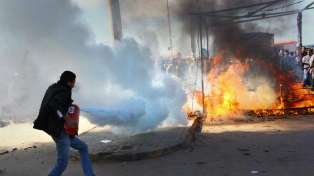 Chaos in der libyschen Stadt Benghazi.