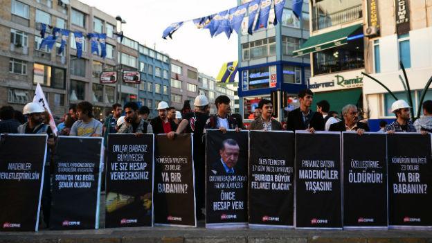 Anti-Erdogan-Kundgebung in der Türkei.