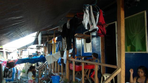 Alltag im Evakuationszentrum.