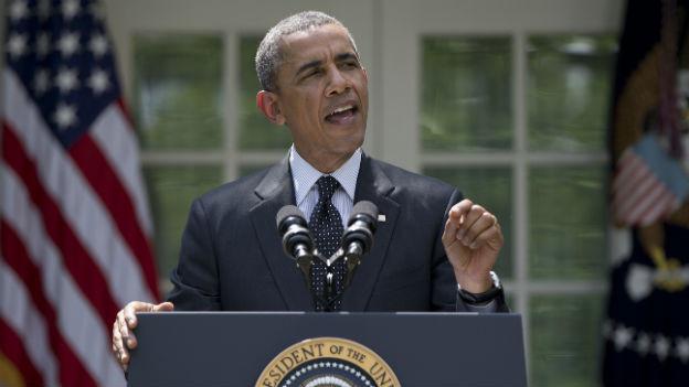 Präsident Obama macht ernst mit dem Abzug der Truppen: Bei der Rede am Dienstag im Garten des Weissen Hauses.