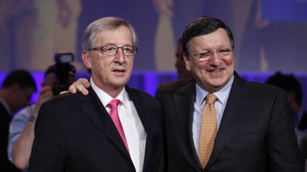 Der Herr links (Juncker) soll das Amt des Herrn rechts (Barroso) übernehmen – oder doch nicht?