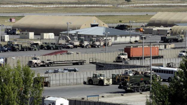 Die US-Militärbasis am Flughafen Manas in der kirgisischen Hauptstadt Bishkek.