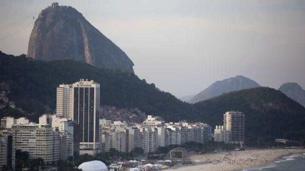 Am Strans von Copacabana in Rio.
