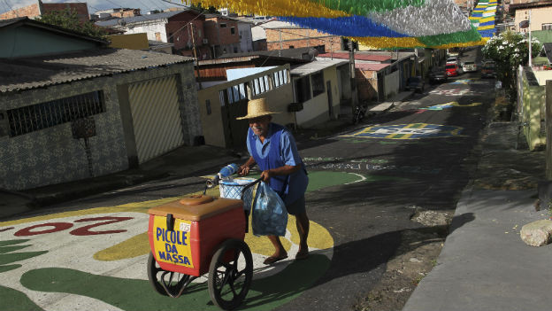Strassenszene in Manaus.