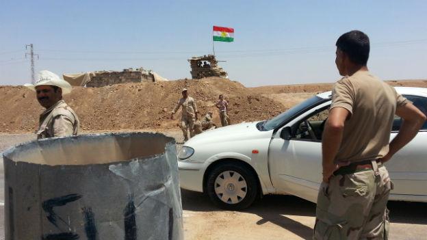 Kurdischer Kontrollposten bei Kirkuk