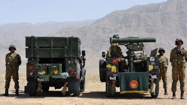 Pakistanische Soldaten an der Militäroffensive in Nord-Waziristan.