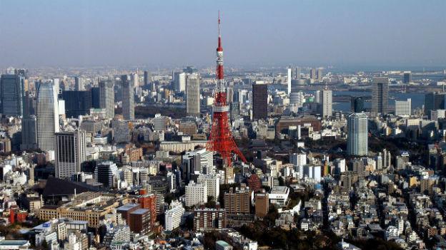 Blick auf Tokio, eine der grössten Megacities der Welt.
