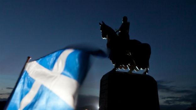 Statue des schottischen Königs Robert the Bruce.