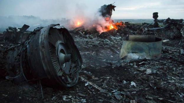 Trümmer der MH17