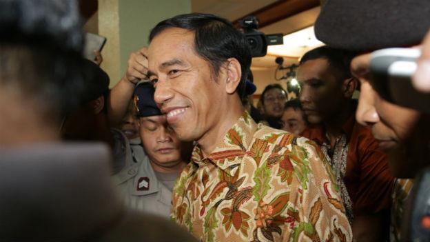 Strahlender Sieger: Joko Widodo, neuer indonesischer Präsident.