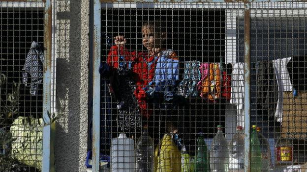 Ein palästinensisches Kind in einer Schule im Gaza-Streifen.
