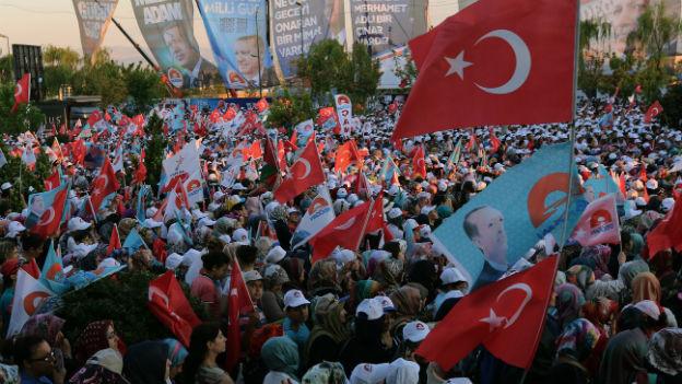Ende des Wahlkampfs: Pro-Erdogan-Kundgebung in Ankara am Freitag.