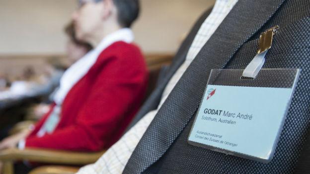 Auslandschweizer an einem Treffen ihrer Organisation.