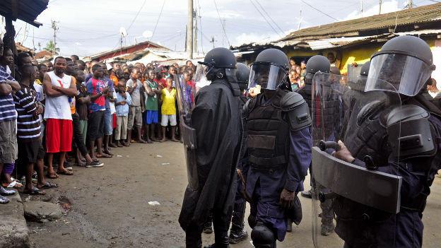 Liberia ist am stärksten von der Ebola-Epidemie betroffen.