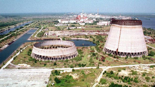 Aufnahme des ukrainischen AKW Tschernobyl.
