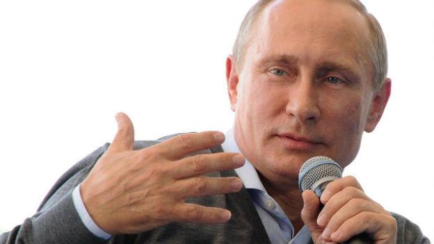 Kremlchef Putin bei einem TV-Interview