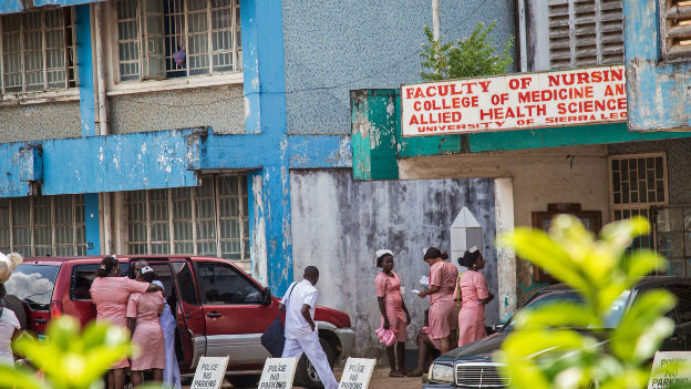 Ebolazentrum in Sierra Leone.