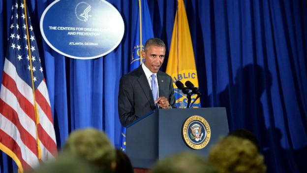 US-Präsident Barack Obama spricht vor der Presse über seinen Aktionsplan gegen Ebola.