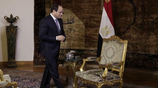 Ägyptens Präsident Abdel-Fattah el-Sissi im Präsidentenpalast in Kairo.