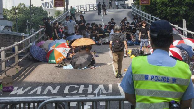 Mit Disziplin und Leidenschaft bei der Sache: Demonstranten in Hongkong.