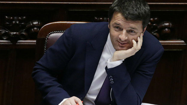 Matteo Renzi bei einer Senatsdebatte im Februar 2014.