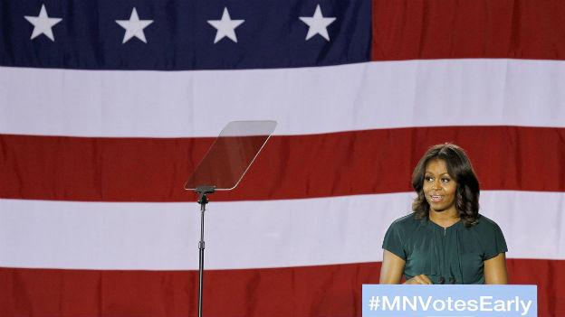 Die USA wählen einen neuen Kongress. Michelle Obama legt sich für ihren Mann und die Demokraten ins Zeug.