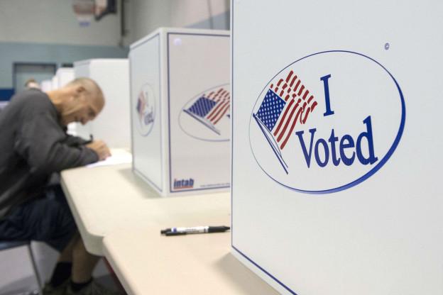 Ein Wahllokal in Alexandria, Virginia.