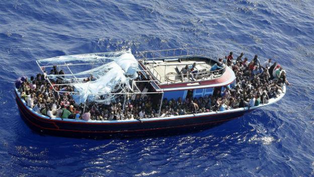 Migranten vor Italien.