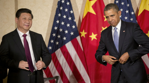 US-Präsident Obama und Chinas Staats-Chef Xi Jinping.