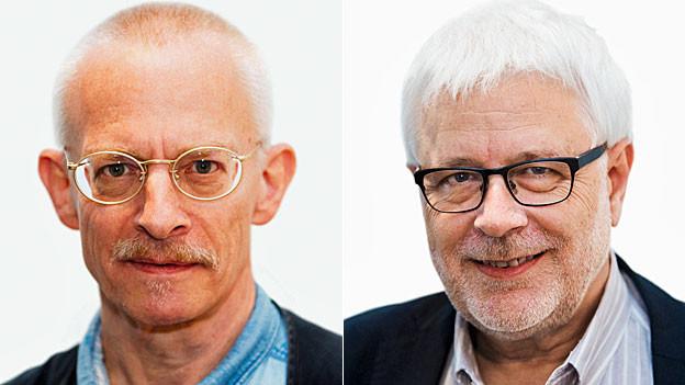Urs Morf, SRF-Korrespondent in Peking und Peter Gysling, SRF-Korrespondent in Moskau.