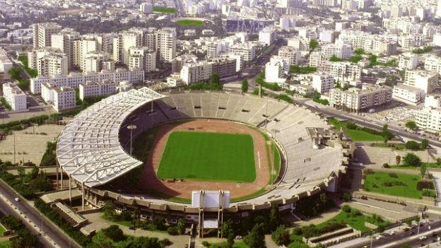Fussballstadion in der marokkanischen Stadt Casablanca.