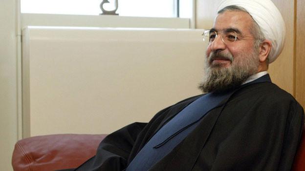 Irans Präsident Hassan Rohani anlässlich eines Meetings in Wien, November 2003.