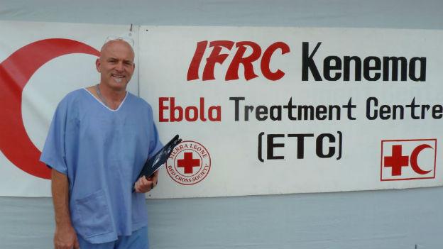 Balz Halbheer im Ebola Zentrum Kenema