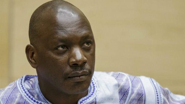 Aufnahme des ehemaligen Rebellenführers Thomas Lubanga vor dem ICC in Den Haag.