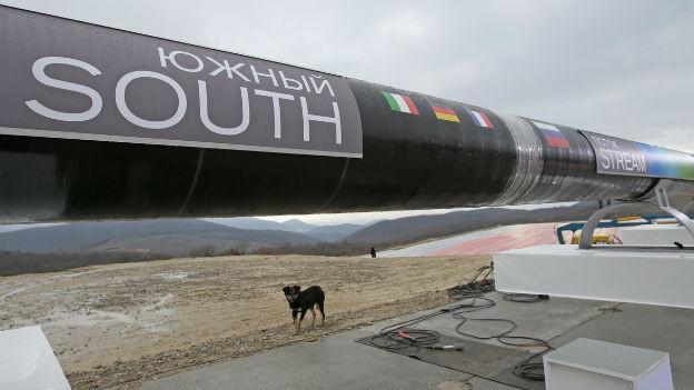 Ein Abschnitt der South-Stream-Pipeline in der Nähe der Stadt Anapa, Russland.