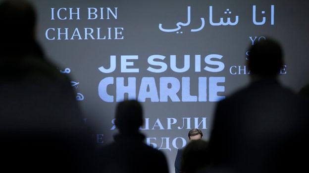 Auch in Brüssel wurde eine Schweigeminute für die Opfer des Attentats auf «Charlie Hebdo» in Paris abgehalten.